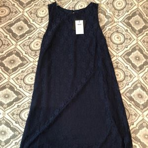 ASOS Navy Lace Shift Dress - NWT